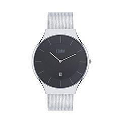 STORM - Gents black REESE XL mesh strap watch