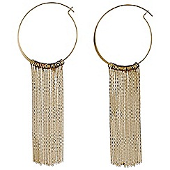 Pilgrim - Gold Plated creole hoop with curb chains earrings