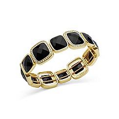 Anne Klein - Gold and black stone stretch bracelet