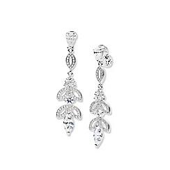 Anne Klein - Silver triple drop clip earrings