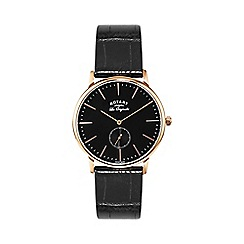 Rotary - Gents Stainless Steel Rose Gold Watch