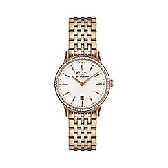 Rotary - Ladies Two Tone Rose Gold Bracelet Watch lb90057/06