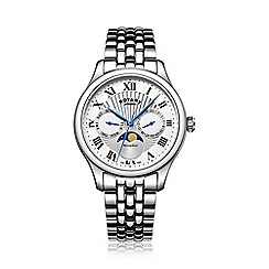 Rotary - Gents Stainless Bracelet Watch with Moonphase Chronograph Dial gb05065/01