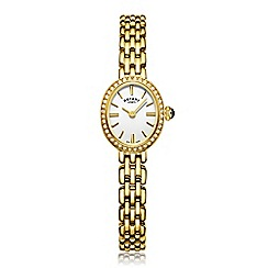 Rotary - Ladies Gold Plated Bracelet Watch lb05051/02