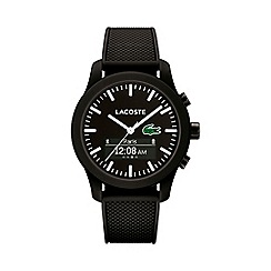 Lacoste - Gents black 12.12 contact black rubber strap smart watch 2010881