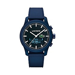 Lacoste - Gents blue 12.12 contact blue rubber strap smart watch 2010882