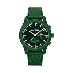 Lacoste - Gents green 12.12 contact green rubber strap watch 2010883