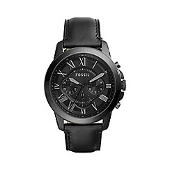 Fossil - Men's Black Grant Chronograph Watch