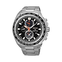 Seiko - Gents Prospex Stainless Steel World Timer Bracelet Watch ssc487p1