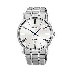 Seiko - Gents Premier Stainless Steel 3-Hand Bracelet Watch skp391p1