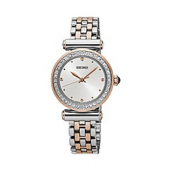 Seiko - Ladies Stainless Steel/Two Tone 3-Hand Bracelet Watch srz466p1