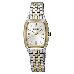 Seiko - Ladies Stainless Steel/Two Tone 3-Hand Bracelet Watch srz472p1