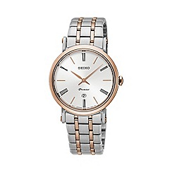 Seiko - Ladies Premier Stainless Steel/Two Tone 3-Hand Bracelet Watch sxb430p1