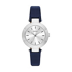 DKNY - Ladies navy and stainless steel fashion watch