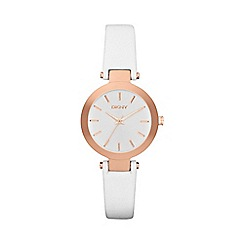 DKNY - Ladies white leather watch ny2405
