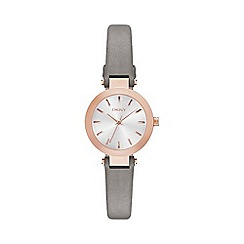 DKNY - Ladies grey genuine leather watch ny2408