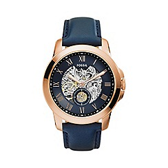 Fossil - Men's Grant Automatic Leather Watch