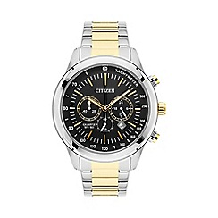 Citizen - Mens Two tone bracelet stainless steel chronograph watch an8154-55h