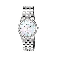 Citizen - Ladies bracelet stainless steel watch eu6030-56d