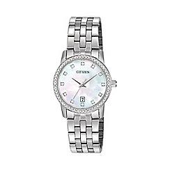 Citizen - Ladies bracelet stainless steel watch