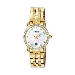Citizen - Ladies Gold tone bracelet stainless steel watch