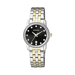 Citizen - Ladies Two tone bracelet stainless steel watch eu6034-55e