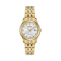 Citizen - Ladies Gold tone bracelet stainless steel watch ew2392-54a