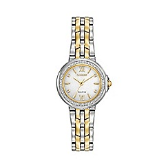 Citizen - Ladies Two tone bracelet stainless steel watch em0444-56a