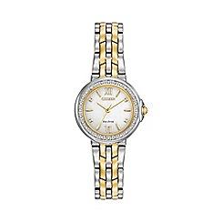 Citizen - Ladies Two tone bracelet stainless steel watch