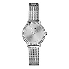 Guess - Ladies silver mesh bracelet watch w0647l6