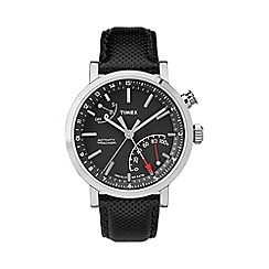 Timex - Men's Black Dial Metropolitan Leather Strap Watch tw2p81700
