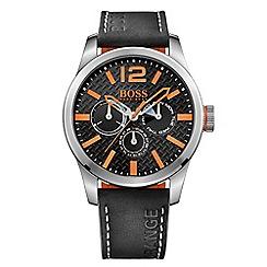 Boss Orange - Gents Leather strap watch