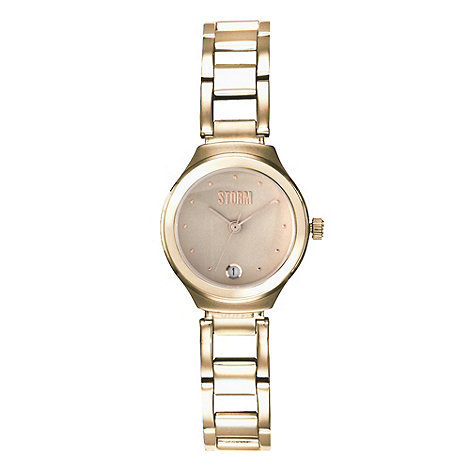 STORM - Ladies gold round dial bracelet watch