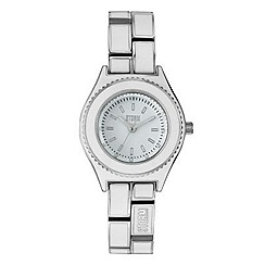 STORM - Ladies stainless steel enamel link bracelet watch