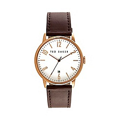 Ted Baker - Men's rose gold plated strap watch te10030651
