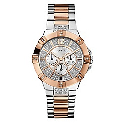 Guess - Ladies silver two tone diamante watch