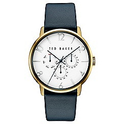 Ted Baker - Men's yellow gold strap watch te10030764