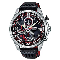 Pulsar - Gents SS Solar Chronograph strap watch pz6005x1