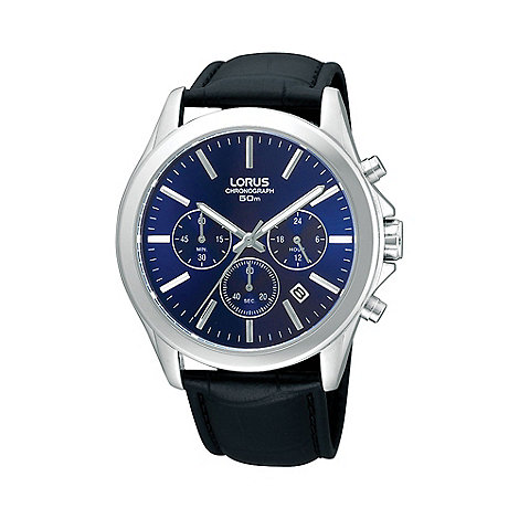Lorus - Men+s blue chronograph watch