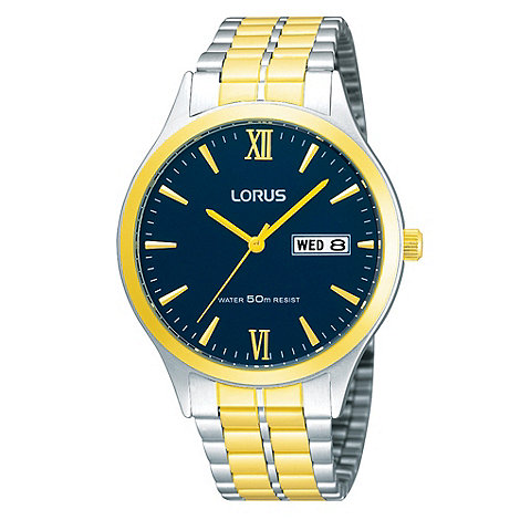 Lorus - Men+s blue dial watch