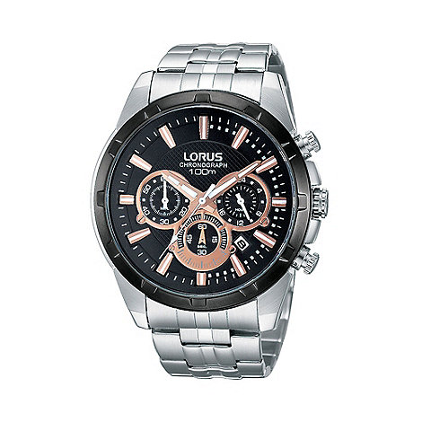 Lorus - Men+s silver chronograph bracelet watch rt359bx9
