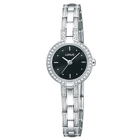 Lorus - Ladies silver stone bracelet watch