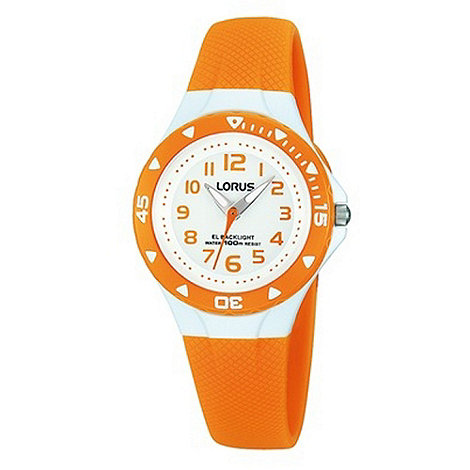 Lorus - Kids+ orange silicone strap watch