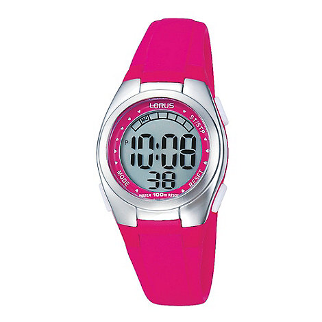 Lorus - Ladies pink digital watch