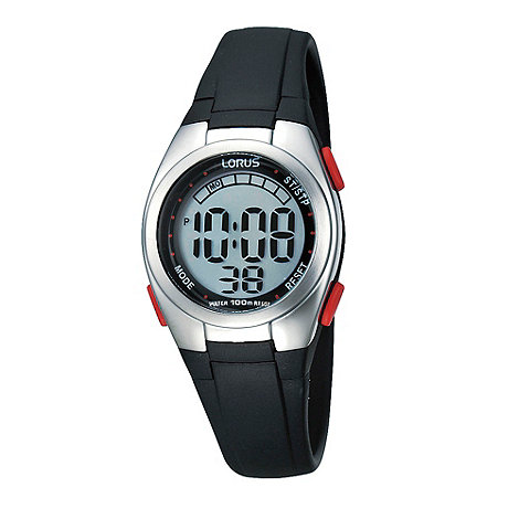 Lorus - Ladies black digital watch