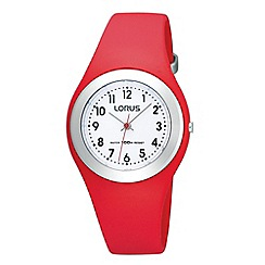 Lorus - Ladies red resin watch