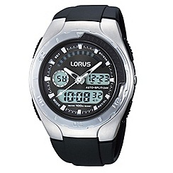 Lorus - Men's silver and black digital watch