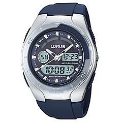 Lorus - Men's silver and navy digital watch
