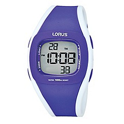 Lorus - Ladies purple digital r2343gx9