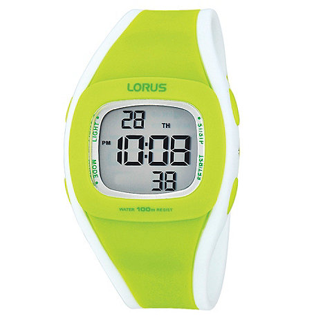 Lorus - Ladies lime green digital